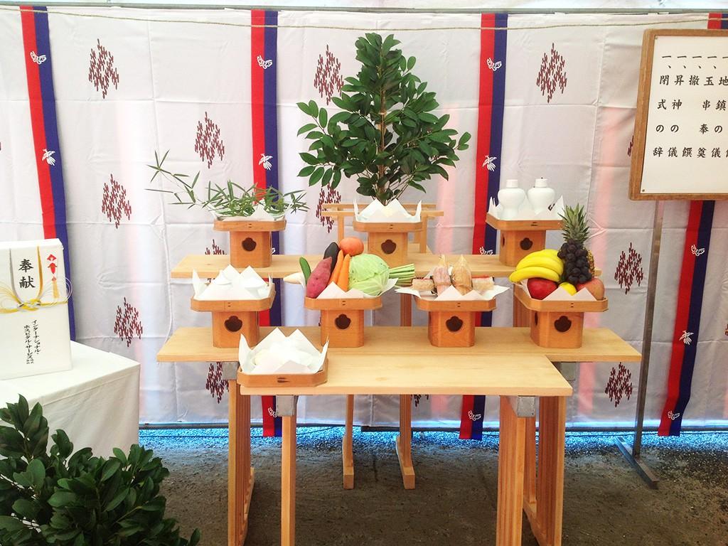 鹿児島のイベント企画・設営・生花・提灯はフタバ 起工式祭壇イベント環境開発生花・造花装飾